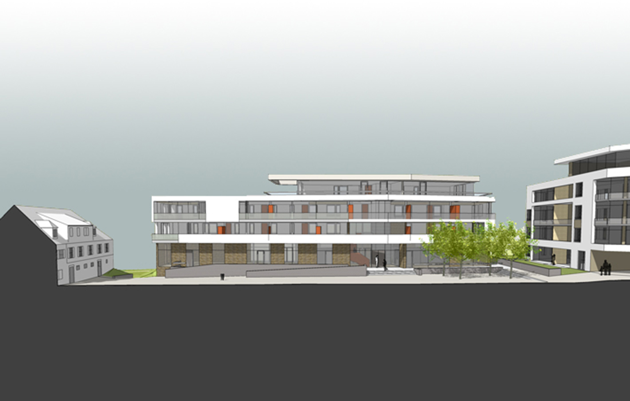2007, Neubau Wohnen Spitalhof Rottenburg