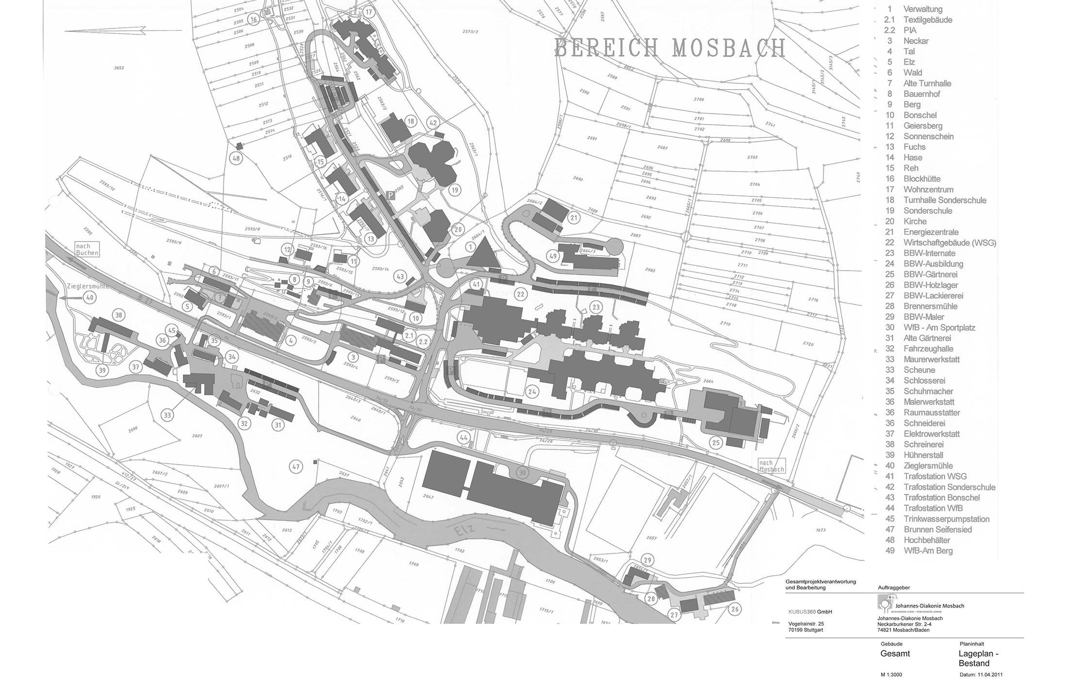 2012, Immobilienkonzept für die Johannes Diakonie Mosbach e.V.