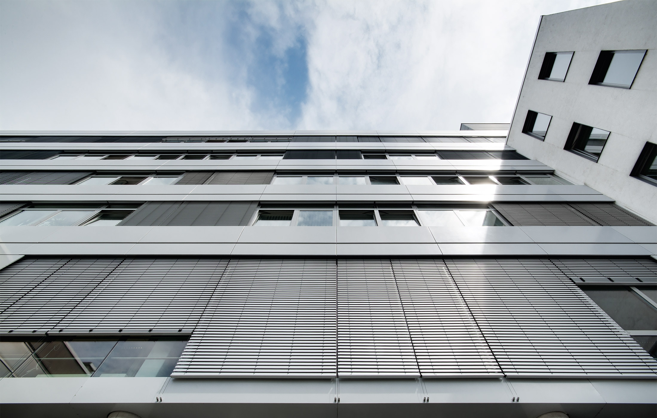 2012, Gesamtsanierung Fassade am Konzernsitz Karlsruhe der EnBW AG