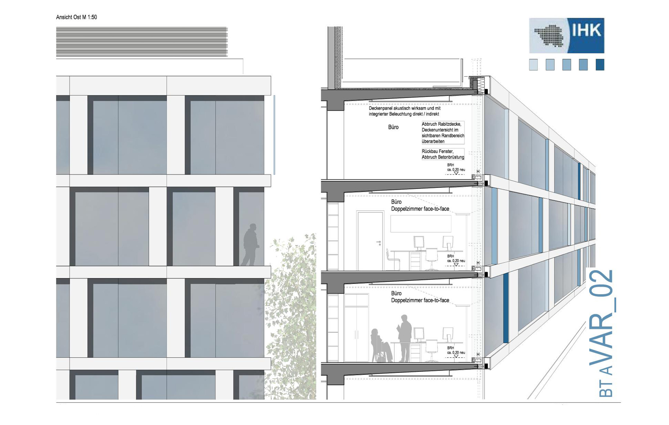 2013, Fassadensanierung IHK Saarland