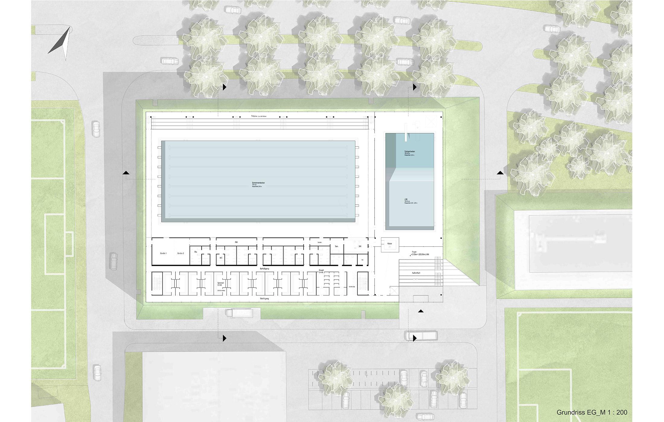 2013, Wettbewerb Neubau Neckarbad, Neckarpark Bad Canstatt