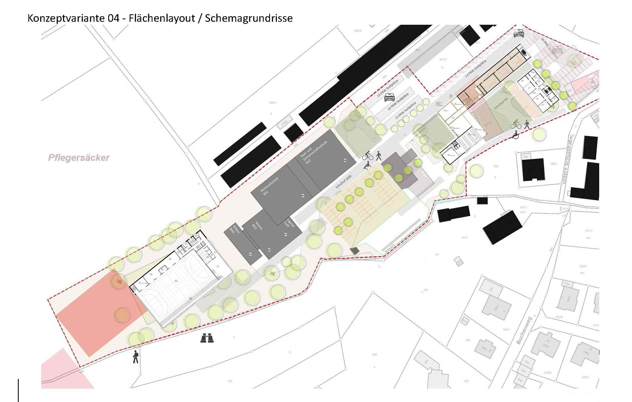 2016, Strukturelle Untersuchung und Masterplanung. Schulzentrum mit Hallenbad Loßburg