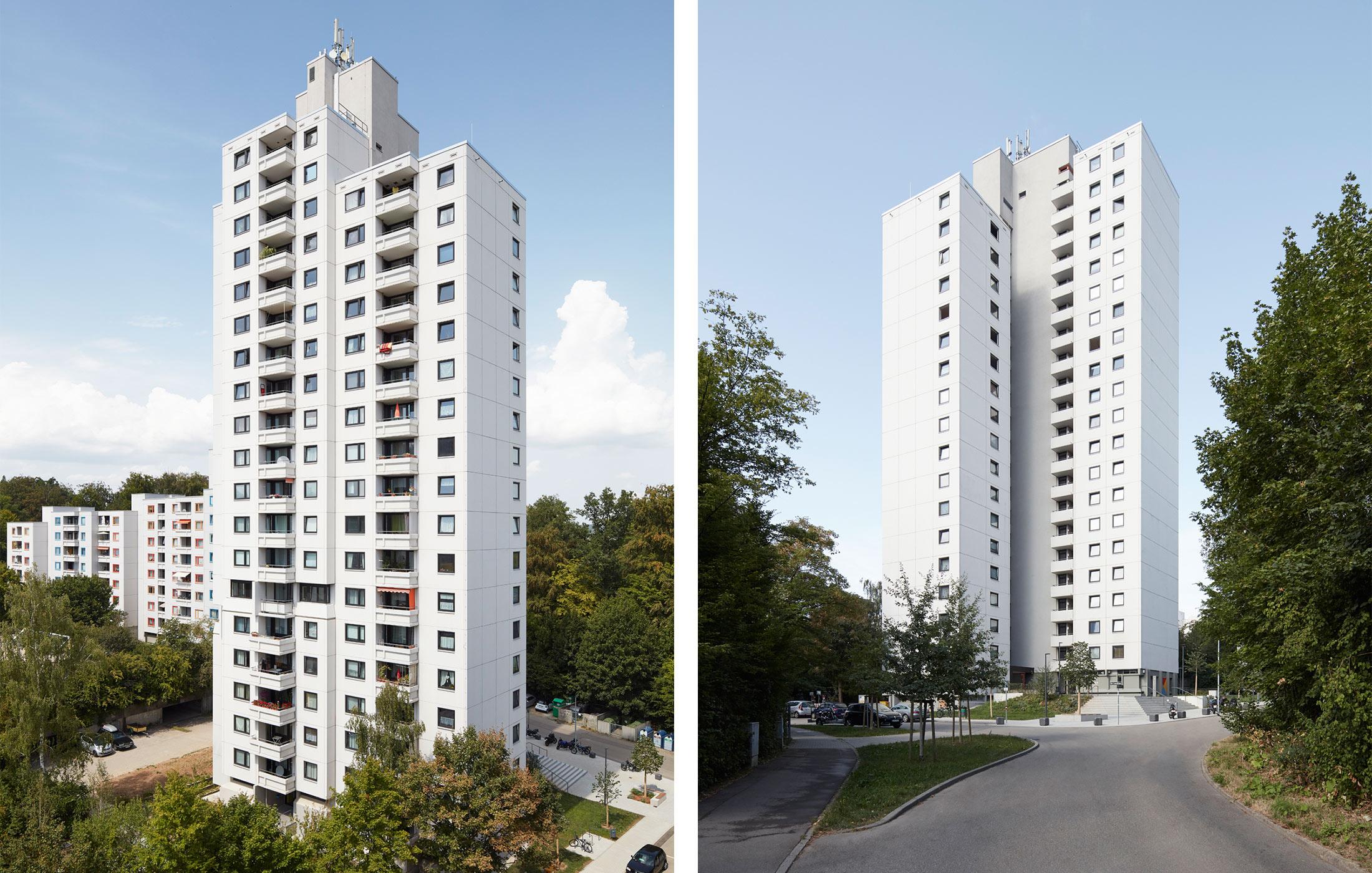 2018, Sanierung Wohnanlage im Lauchhau, Stuttgart