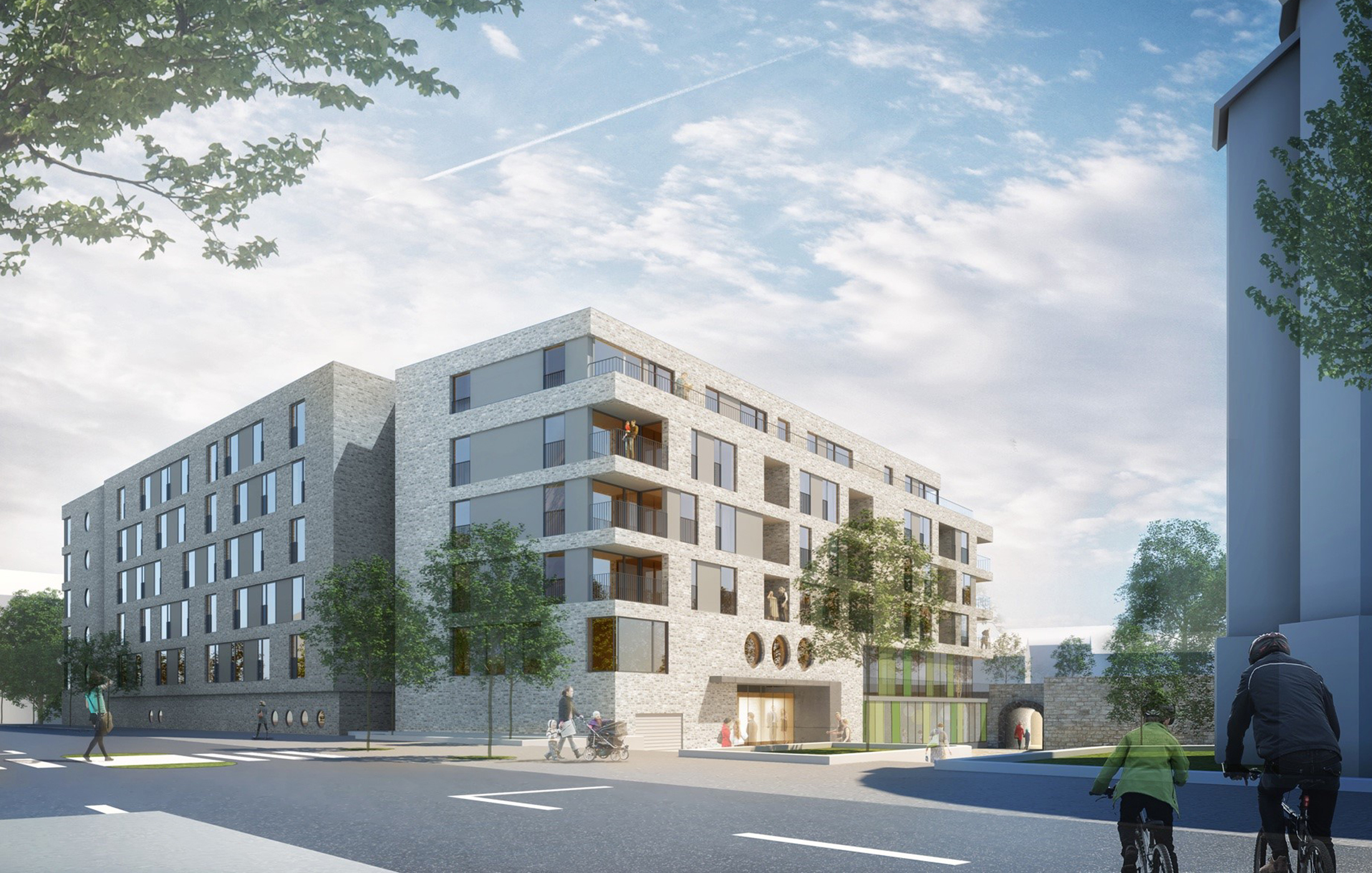 2022, Neubau Dreifaltigkeitshof, Ulm