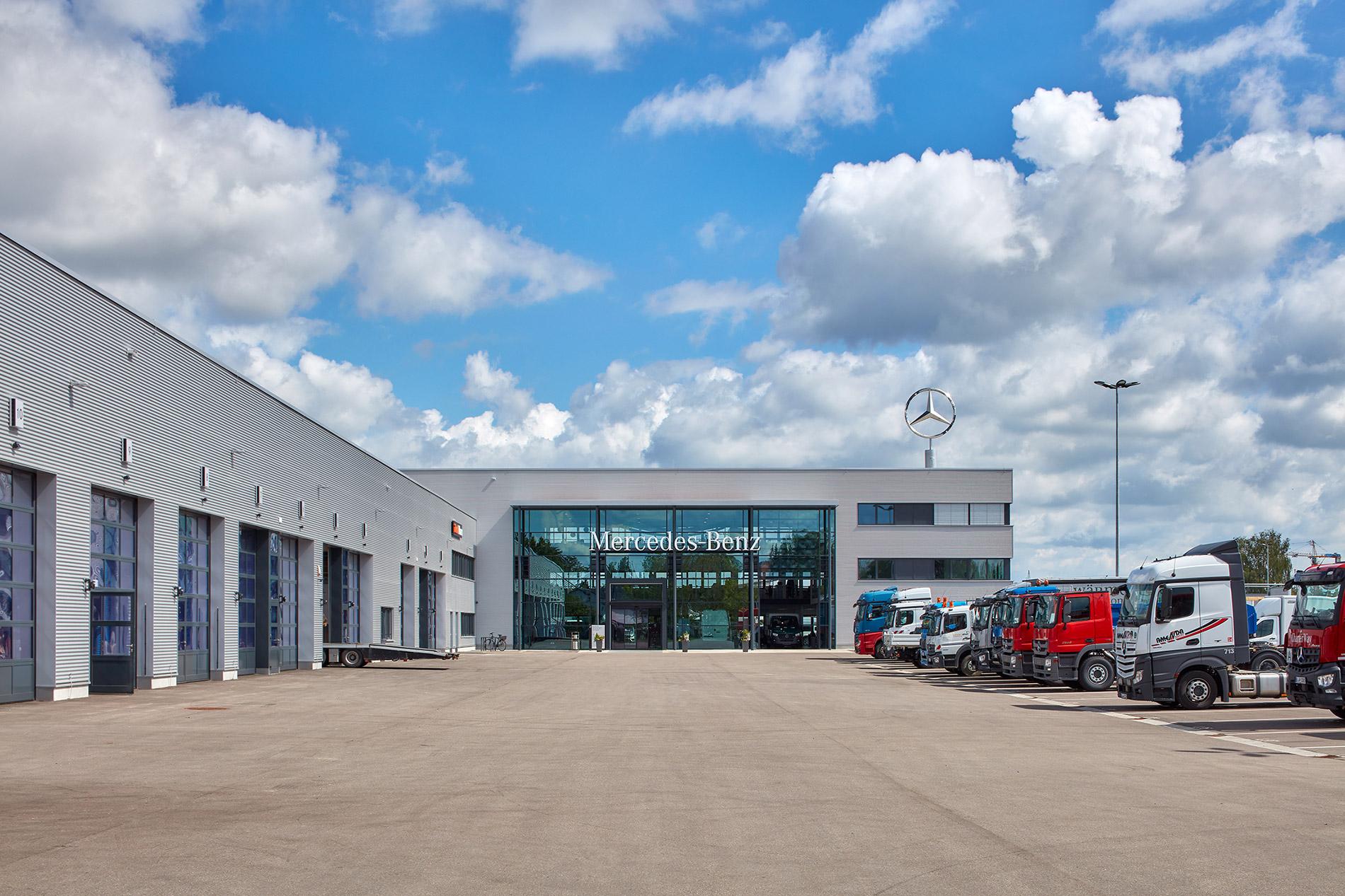 2018, Neubau Mercedes-Benz Nutzfahrzeugzentrum, Neu-Ulm