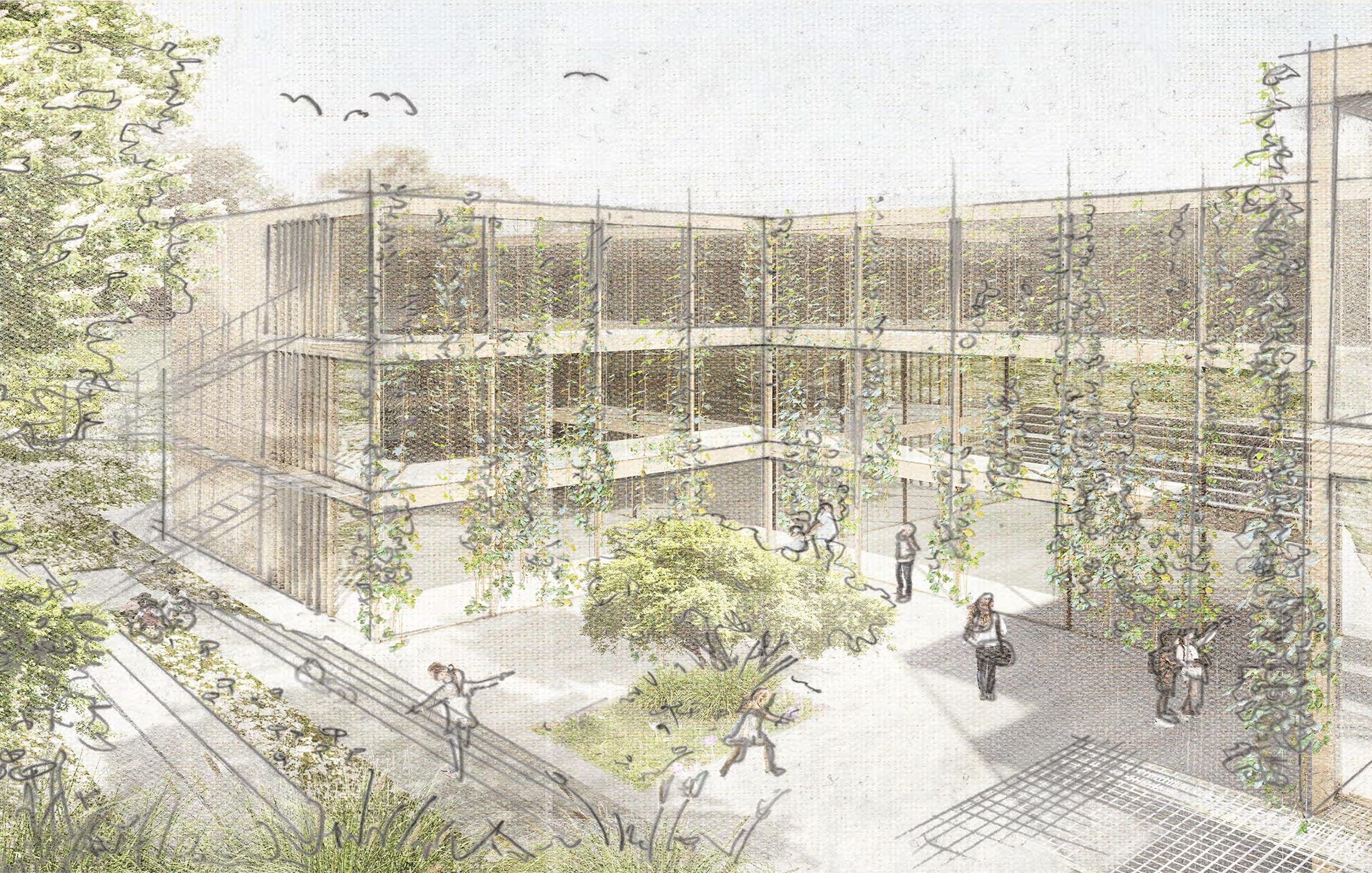 2020, Wettbewerbsbetreuung Neubau Klassenbau Reutlingen