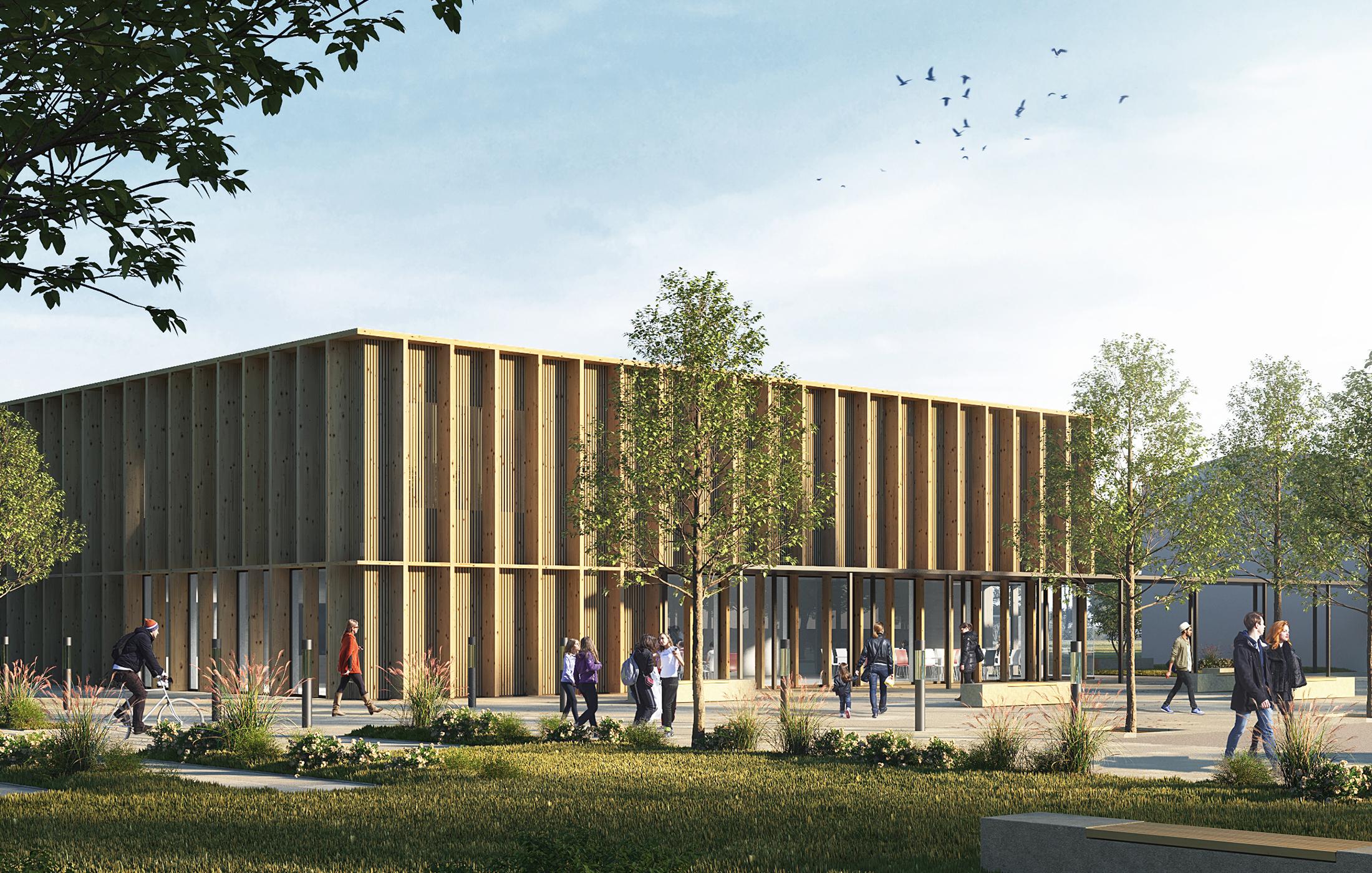 2021, Wettbewerb Neubau Sport- & Mehrzweckhalle Staffort, Stutensee
