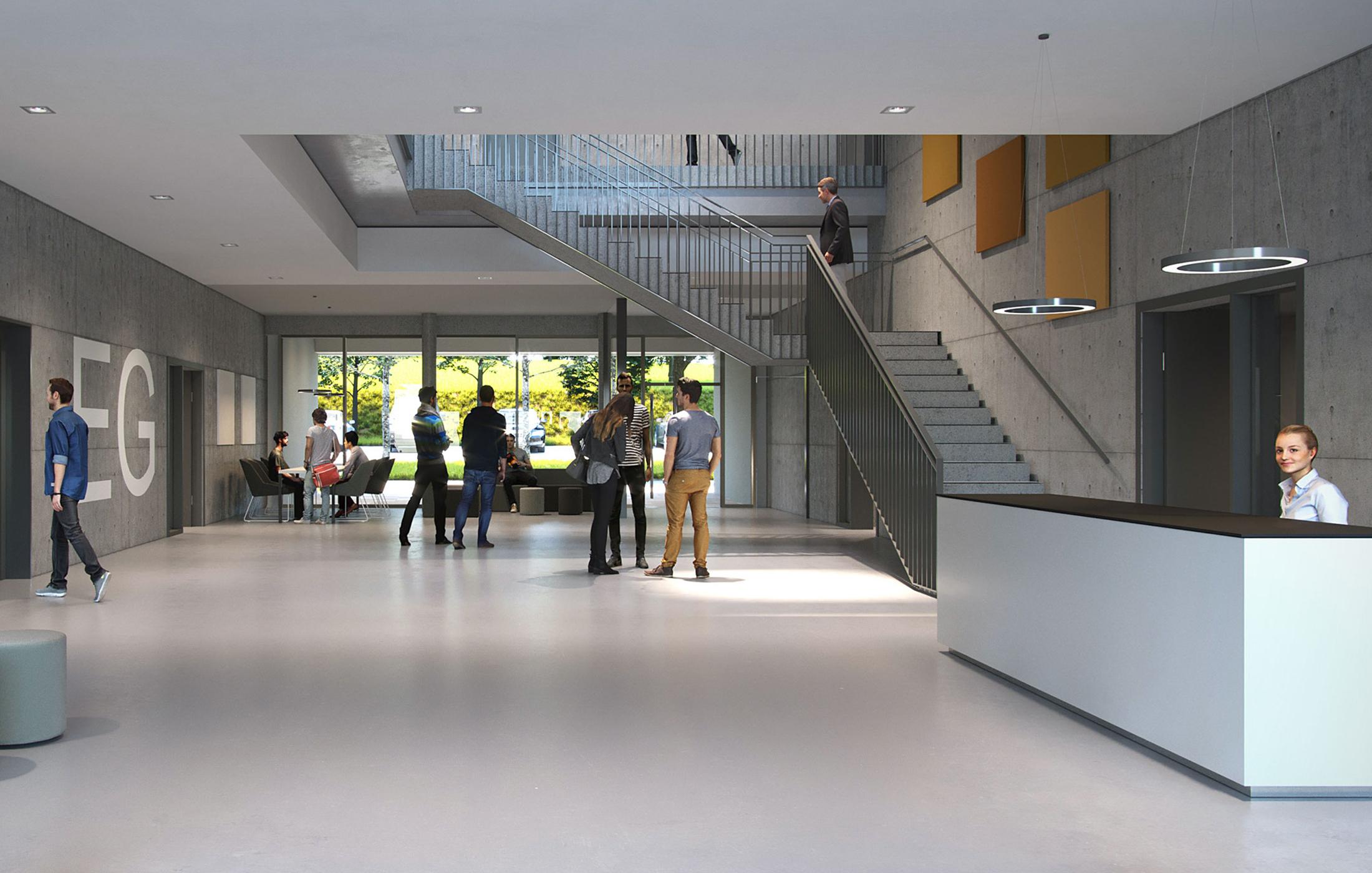 BFW Neubau Geschäftsstelle Stuttgart in Renningen, Foyer