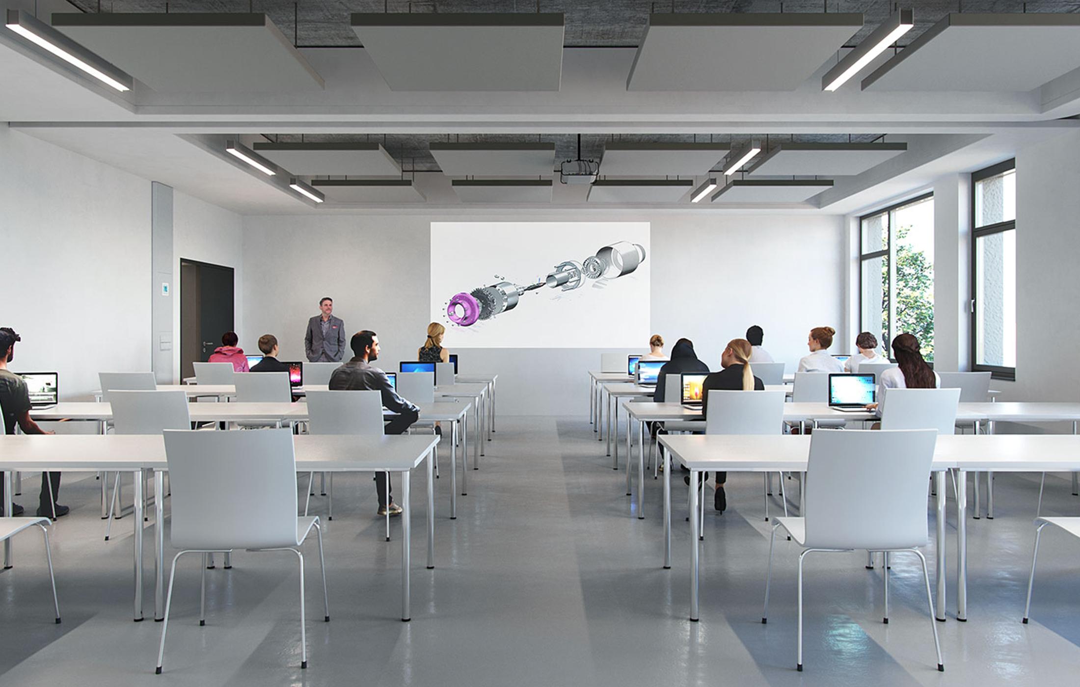 BFW Neubau Geschäftsstelle Stuttgart in Renningen, Klassenzimmer