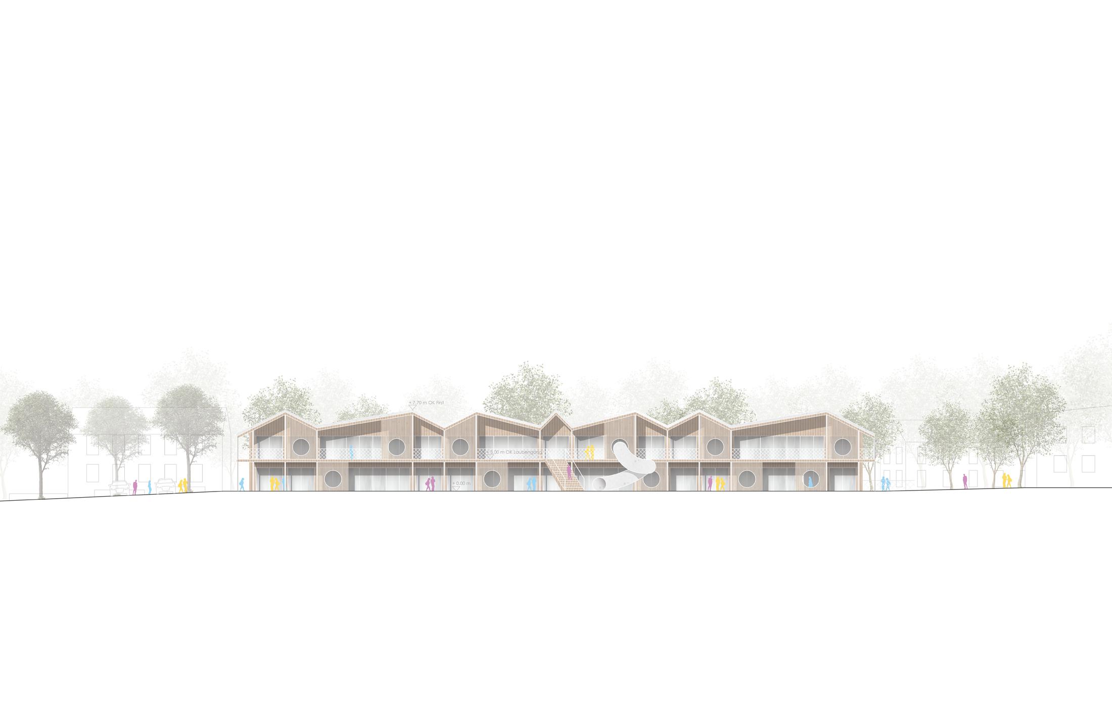 2021, Wettbewerb Neubau Kindergarten, Dunningen-Seedorf
