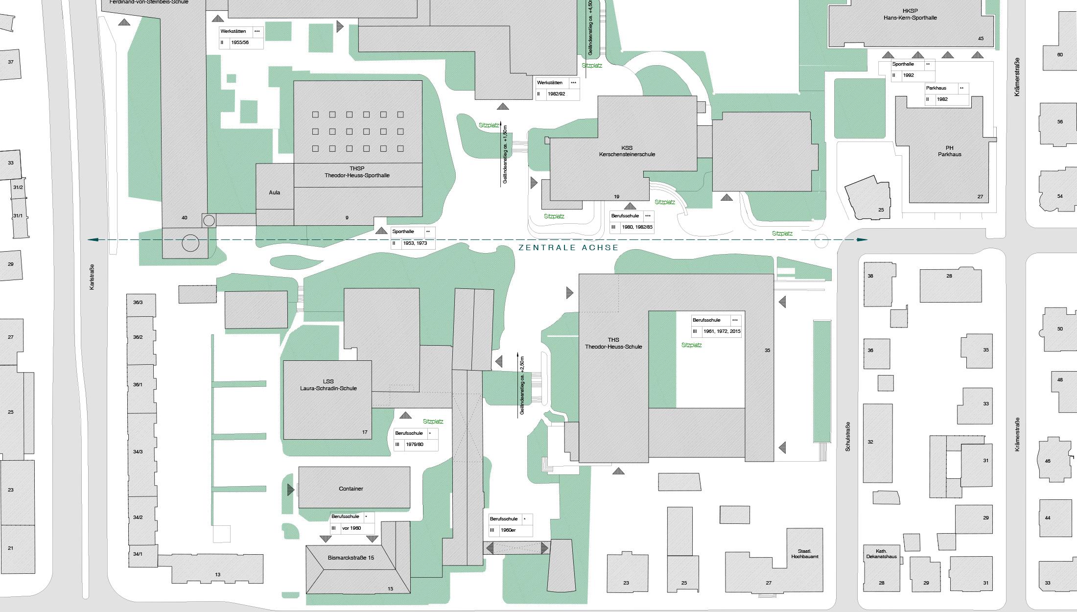 2020, Verfahrensbetreuung Freianlagenplanung für den Berufsschulcampus, Reutlingen