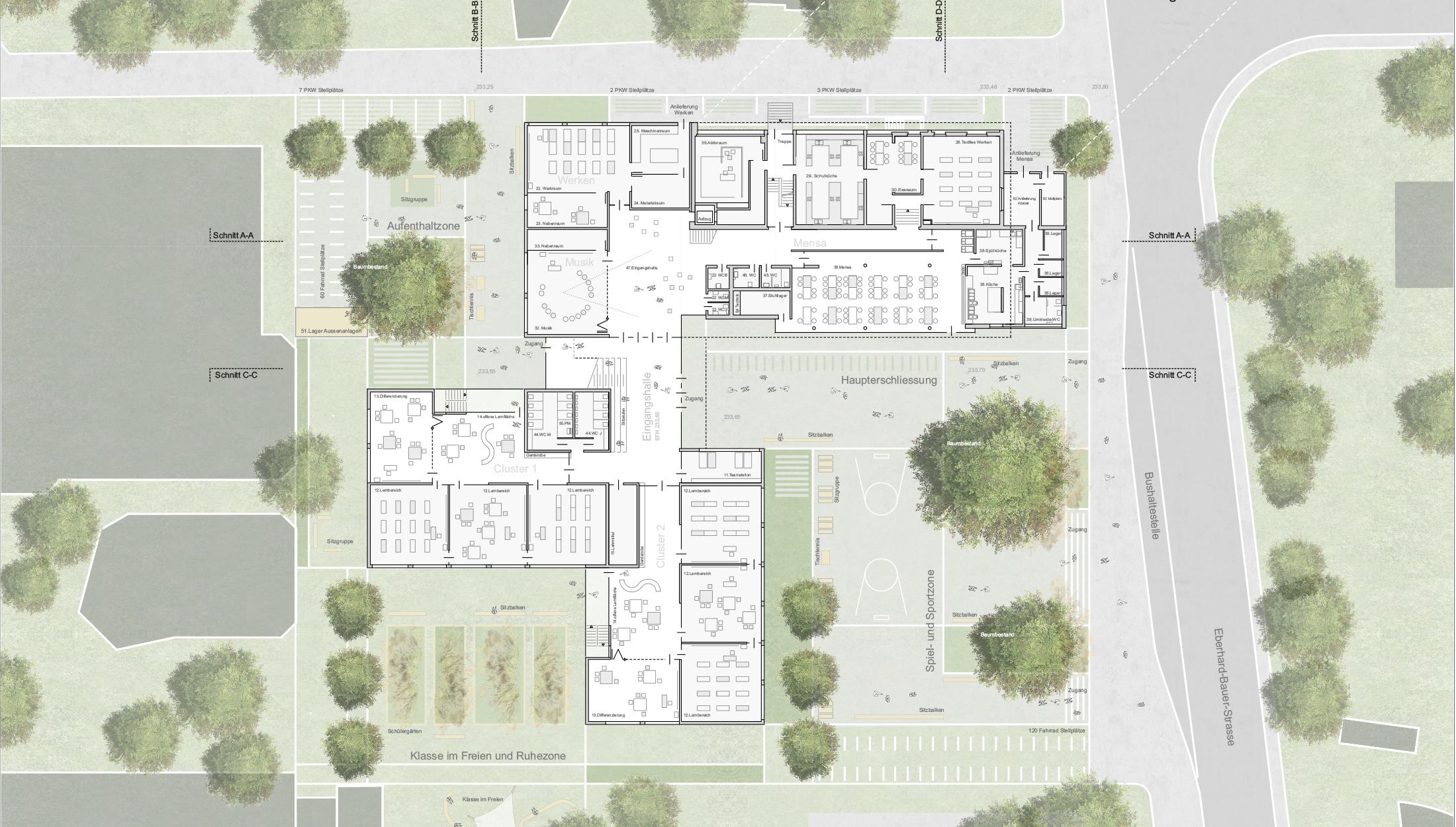 2021, Verfahrensbetreuung Neue Schule, Esslingen