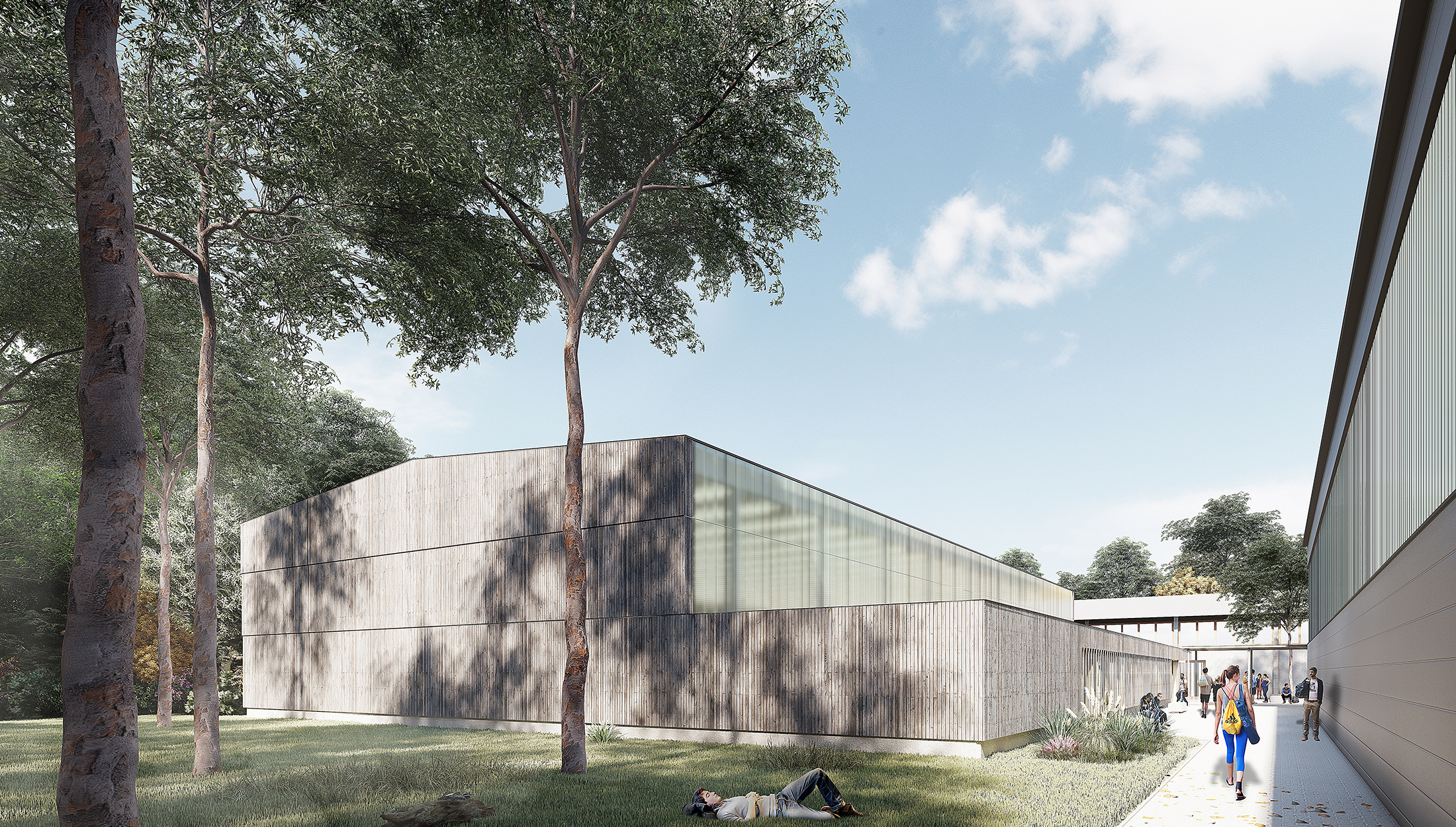2021, Wettbewerb Neubau Sporthalle, Landessportschule Ruit