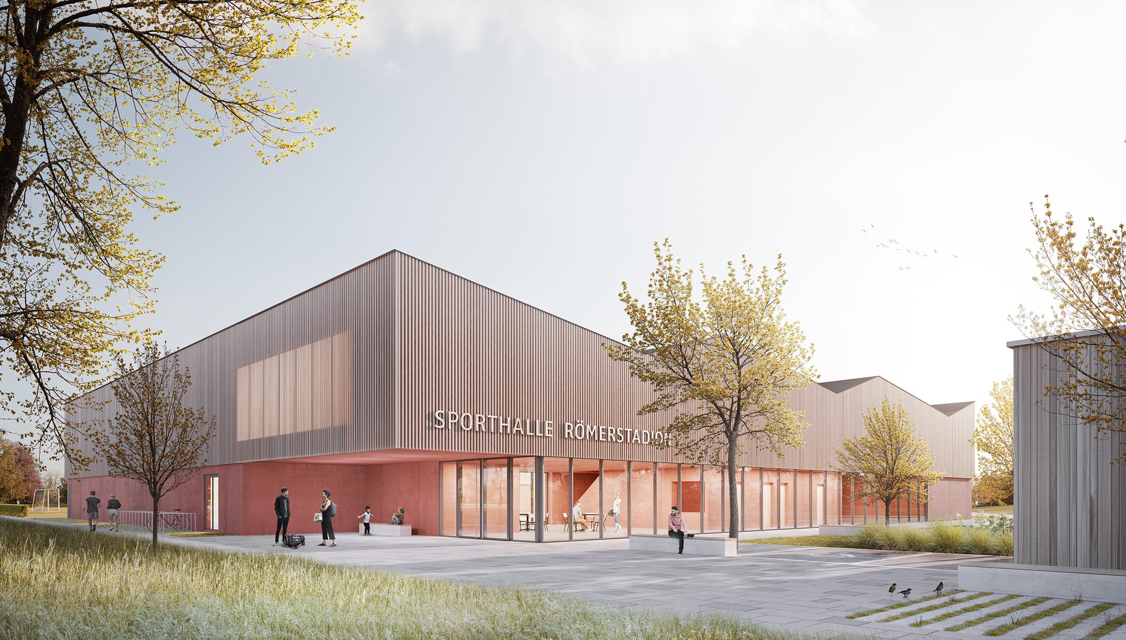 2021, Wettbewerb Neubau Dreifeldhalle im Römerstadion, Ladenburg