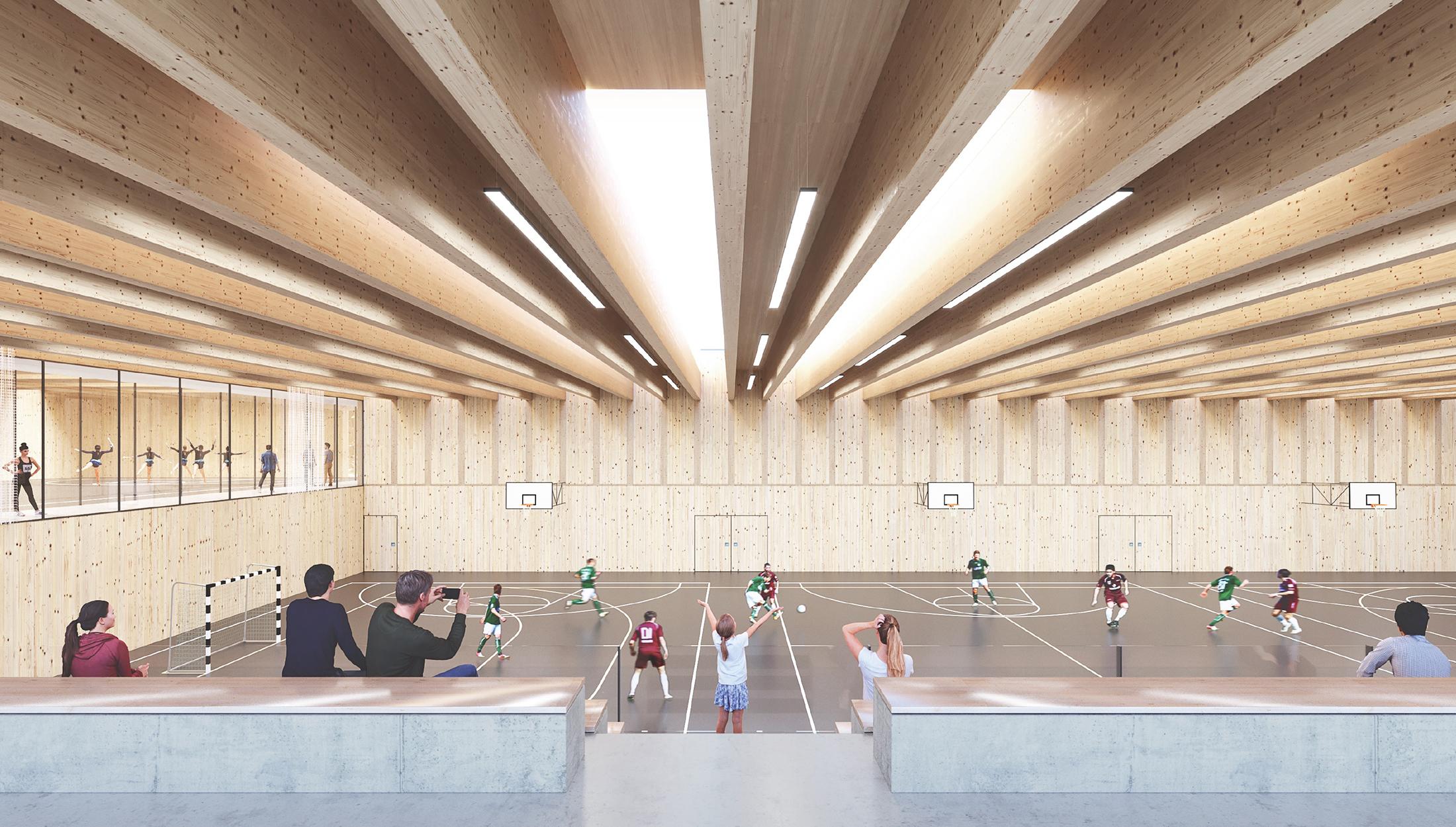 2020, Wettbewerb Neubau Vierfeldhalle, Neckartenzlingen