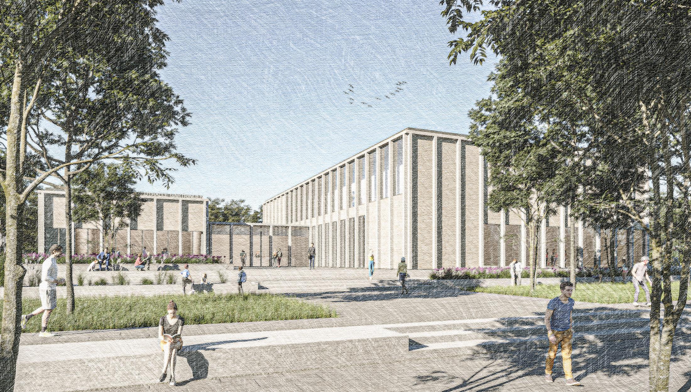 2021, Wettbewerb Neubau Ludwig-Uhland-Halle, Gärtringen